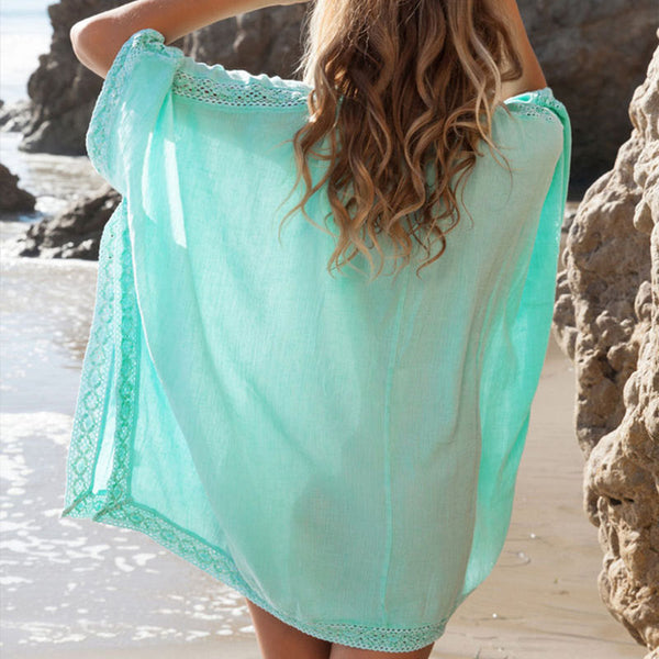 Batwing Sleeve Short Cover Up Dress