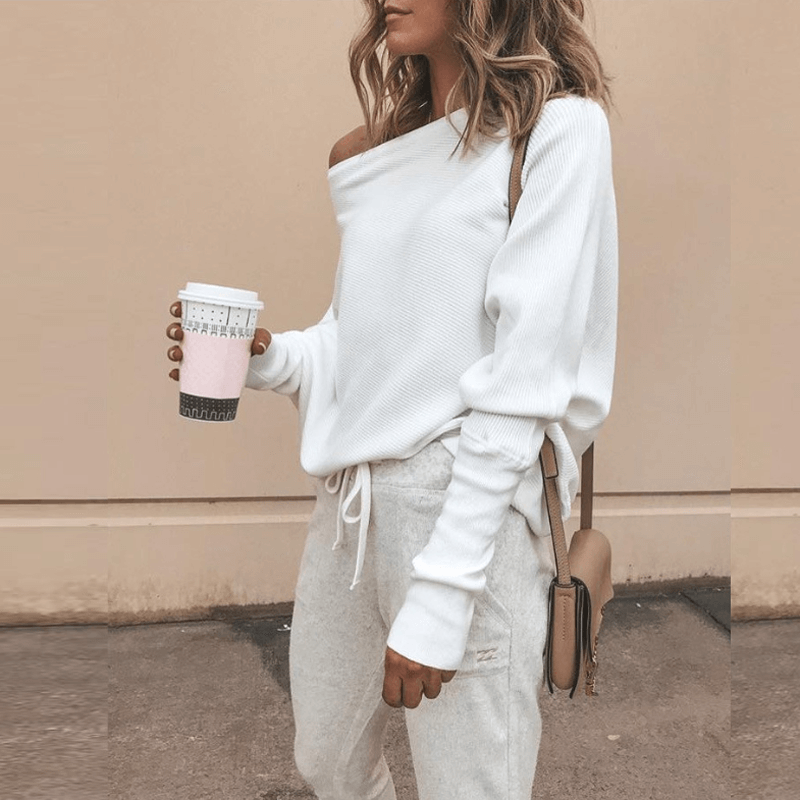 Long Sleeved Textured Pullover Top