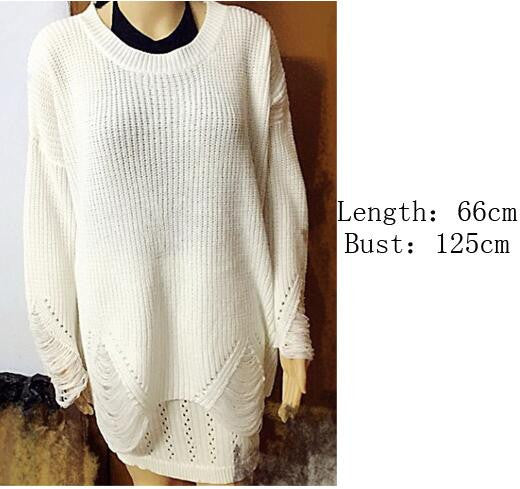 Fashion Hollow Out Knitting Long Sweater
