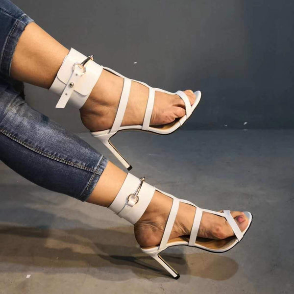 Strap High Heel Open Toe Buckle Sandals