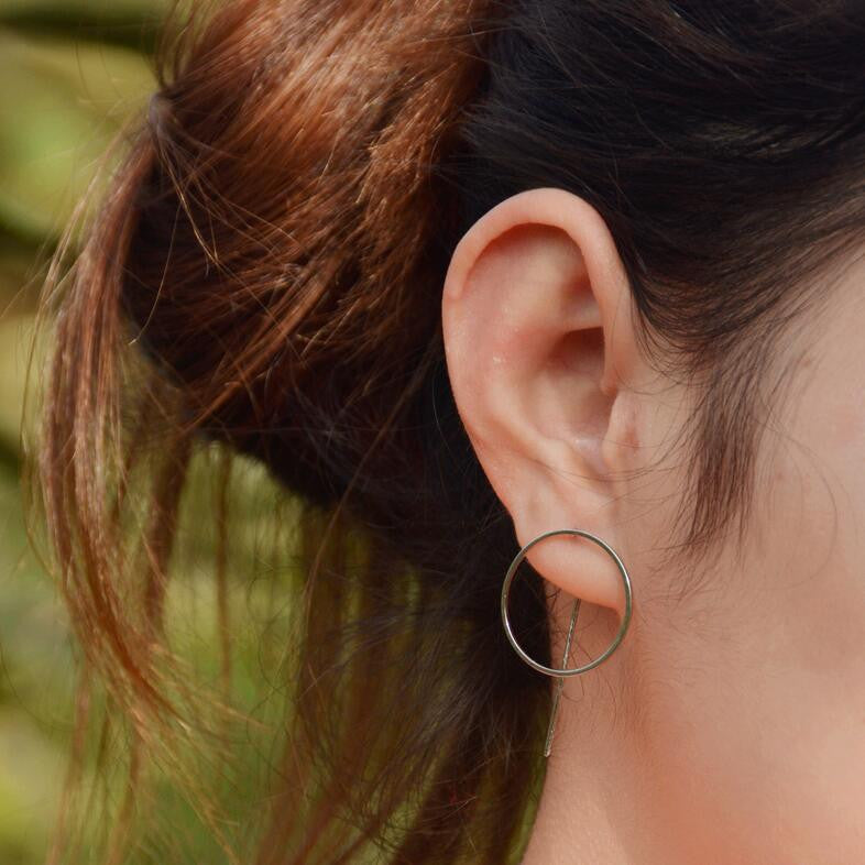 Fashion Personality Geometric Circle Stud Earrings