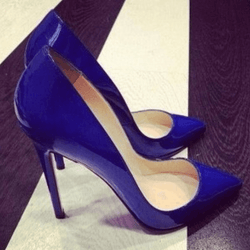 Point Toe Patent Leather Stiletto Heel Pumps