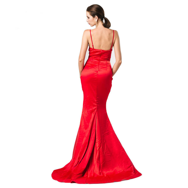 Backless Sling Slits Floor Length Dress