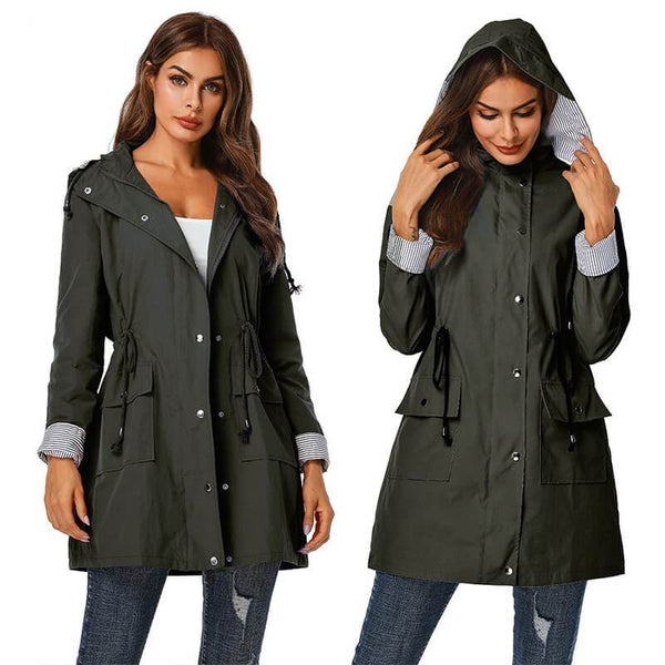 Hollister Elasticated Waist Parka Jacket