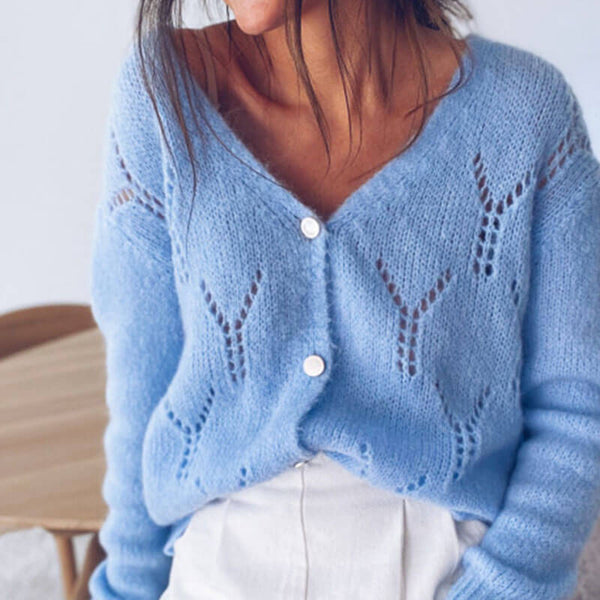 Petite Hollow Out Cardigan