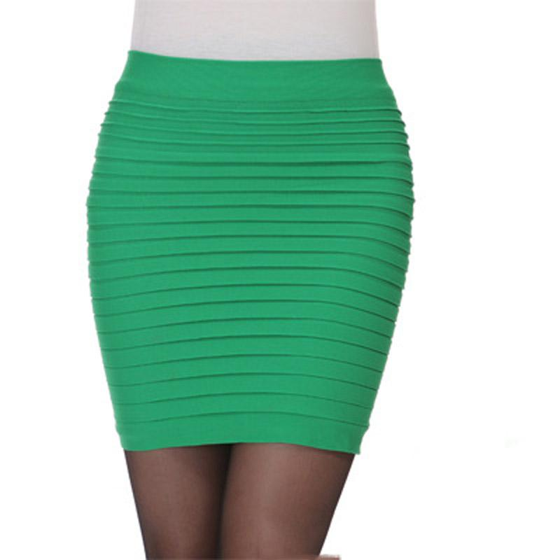 Candy Color High Waist Bodycon A Line Professional Skirts