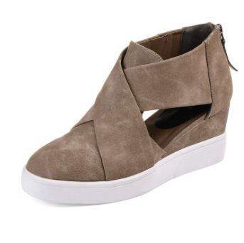 Platform Cutout Wedge Suede Fall Boot