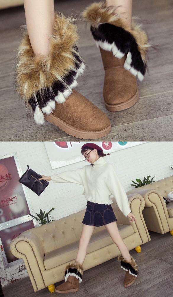 Women's Winter Snow Boots Ankle Boots Warm Fur Shoes