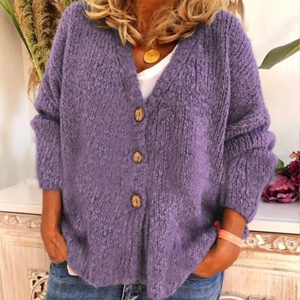 Soild Knitted Sweater Cardigan