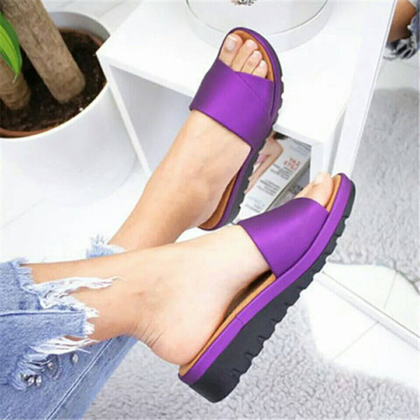 Summer Wedge Open Toe Flat Sandals