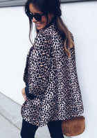 Sneak Pattern Leopard Women Loose Blazer