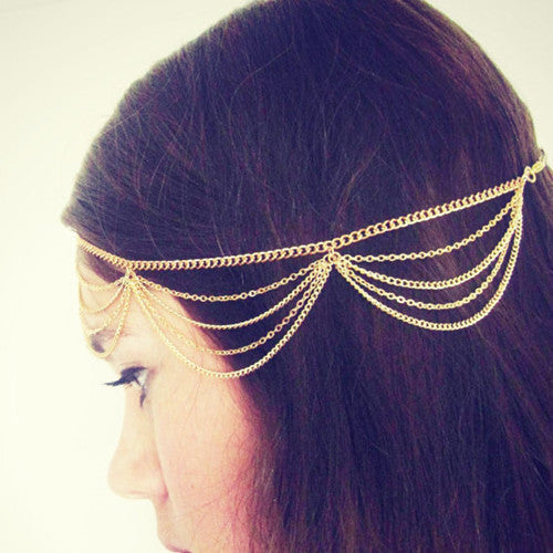 Beautiful Multiple Chain Tassel Hair Accessories