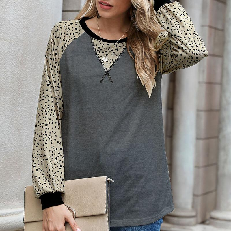 OL Patchwork Scoop Neck Top