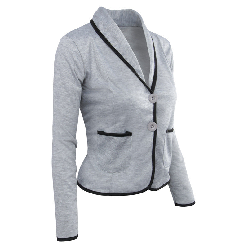 Casual Turn-down Collar Slim Short Fashion Plus Size Blazer