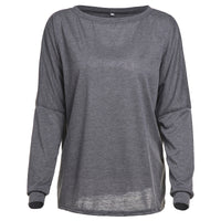 Scoop Pure Color Long Sleeves Loose T-shirt