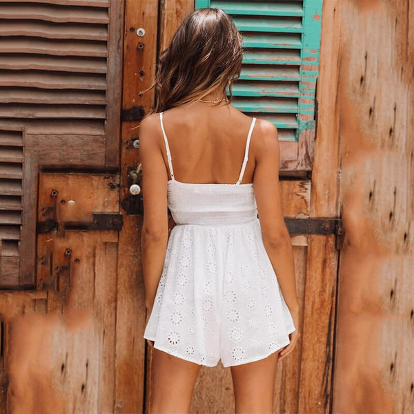 Sling Lace Up Hollow Out Dress