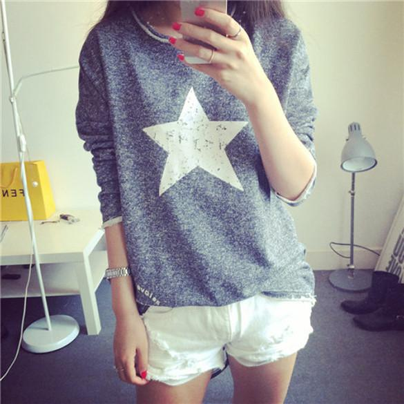 Fall Vintage Pullover Women Long Sleeved Sweatshirt - MeetYoursFashion - 3