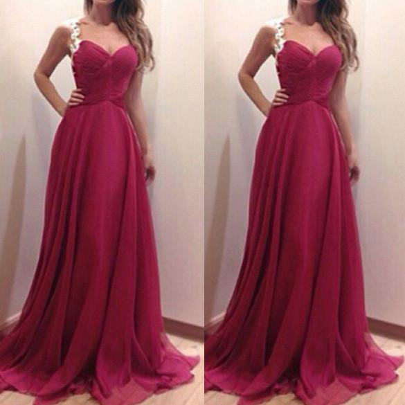 High Waist Sleeveless Straps Long Party Prom Dress - MeetYoursFashion - 1