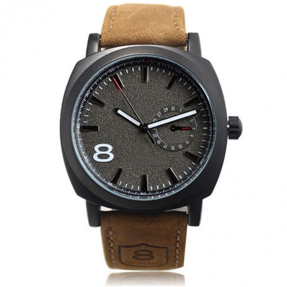 Army Military Style Men's Watches Leather Strap Quartz Watch Wrist Watch - May Your Fashion - 2