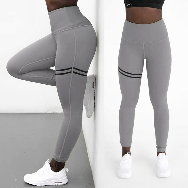 Sexy High Waist Stripes Skinny Leggings Pants