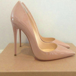 Nude Pointed Toe Stiletto Heel Pumps