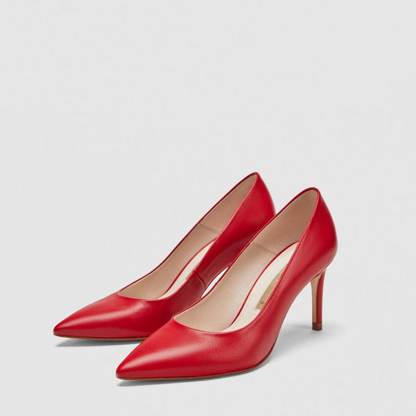 Office Solid Color Stiletto Heels Pumps