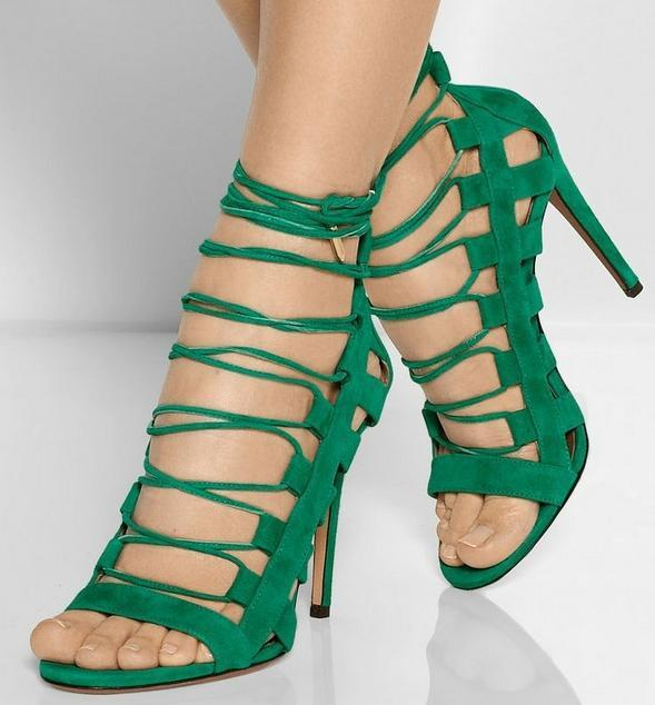Lace Up Cut Out High Heel Sandals - MeetYoursFashion - 2