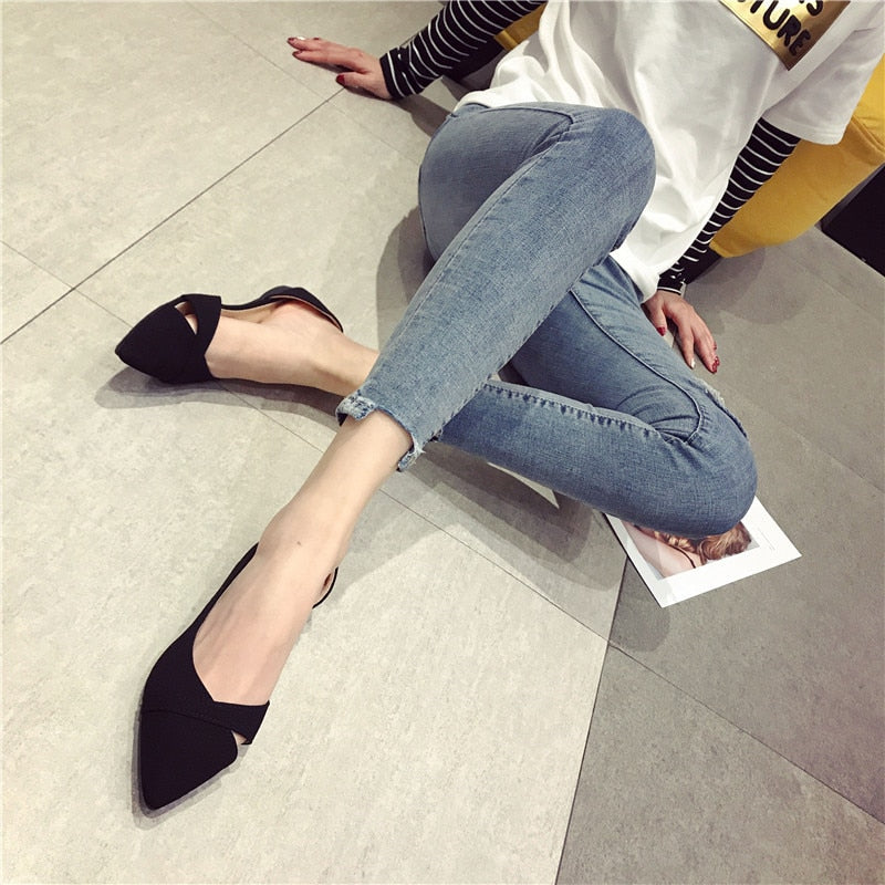 Comfortable Soft-soled Pointed Toe Flats
