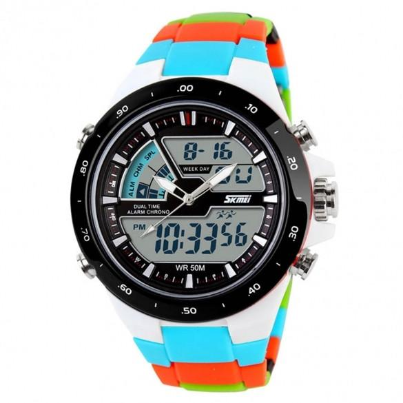 Men Sports Military Digital Quartz Led Watches Casual Silicone Watch