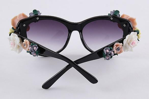 2016 Vintage Shades Women Designer Rose Flowers Sunglasses - May Your Fashion - 10