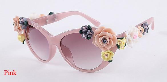 2016 Vintage Shades Women Designer Rose Flowers Sunglasses - May Your Fashion - 12