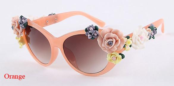 2016 Vintage Shades Women Designer Rose Flowers Sunglasses - May Your Fashion - 13