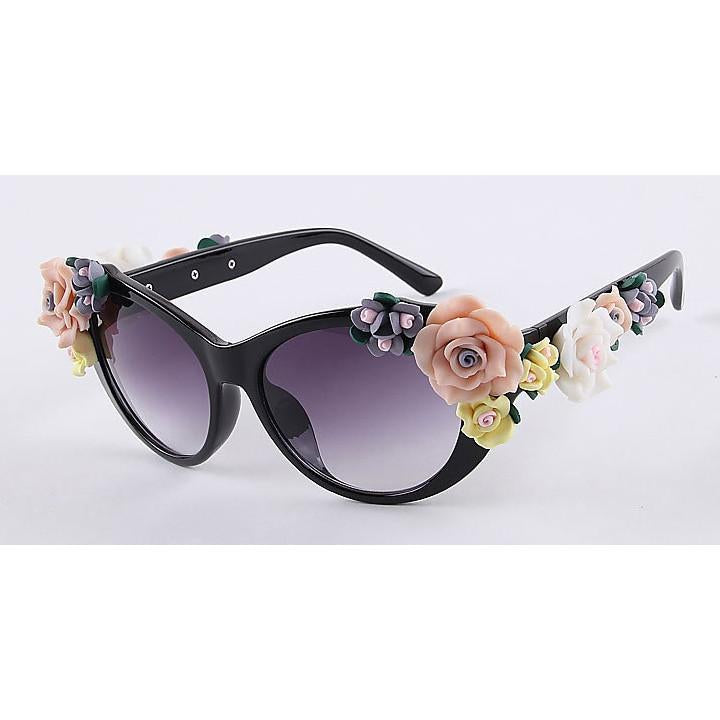 2016 Vintage Shades Women Designer Rose Flowers Sunglasses - May Your Fashion - 2