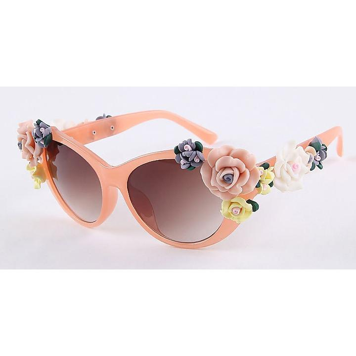 2016 Vintage Shades Women Designer Rose Flowers Sunglasses - May Your Fashion - 6