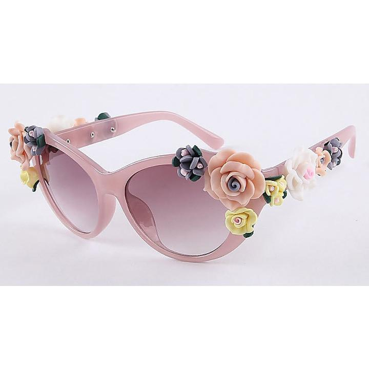2016 Vintage Shades Women Designer Rose Flowers Sunglasses - May Your Fashion - 5