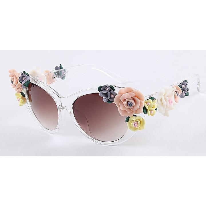 2016 Vintage Shades Women Designer Rose Flowers Sunglasses - May Your Fashion - 3
