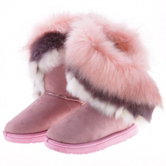 Fashion New Women's Autumn Winter Snow Boots Ankle Boots Warm Synthetic Fur Shoes 3 Colors