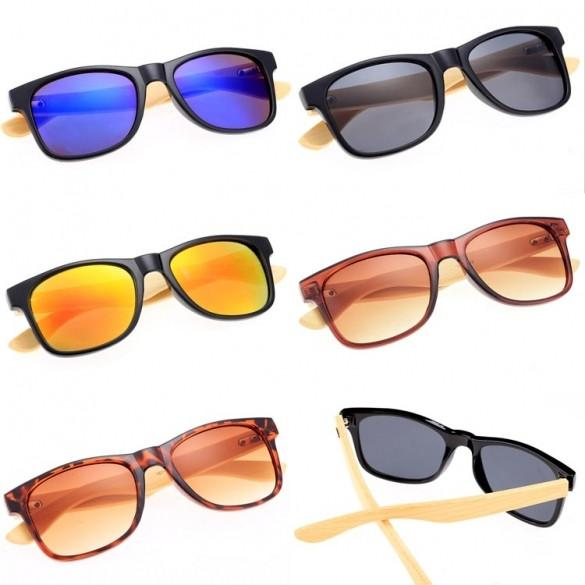 New Fashion Sunglasses Eyewear Vintage Style Casual Bamboo Leg Sunglasses