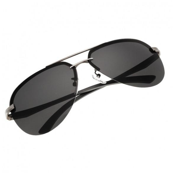 Men Polarized Metal Frame Round Casual Outdoor Sunglasses