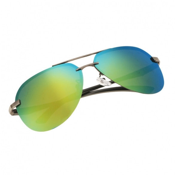 Men Polarize Metal Frame Round Casual Outdoor Sunglasses