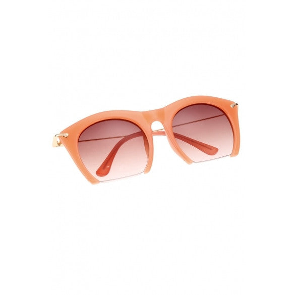 Korean Unisex Retro Large Half-frame Sunglasses