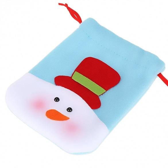 New Christmas Snowman Decorations Holiday Decor Wedding Candy Case Bag