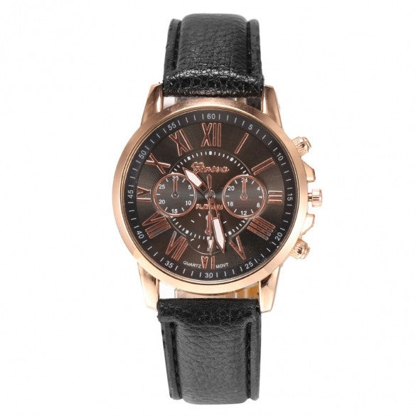 New Women Round Wristwatch Multi Dial Quartz Battery Analog Casual Sports Watch - May Your Fashion - 2