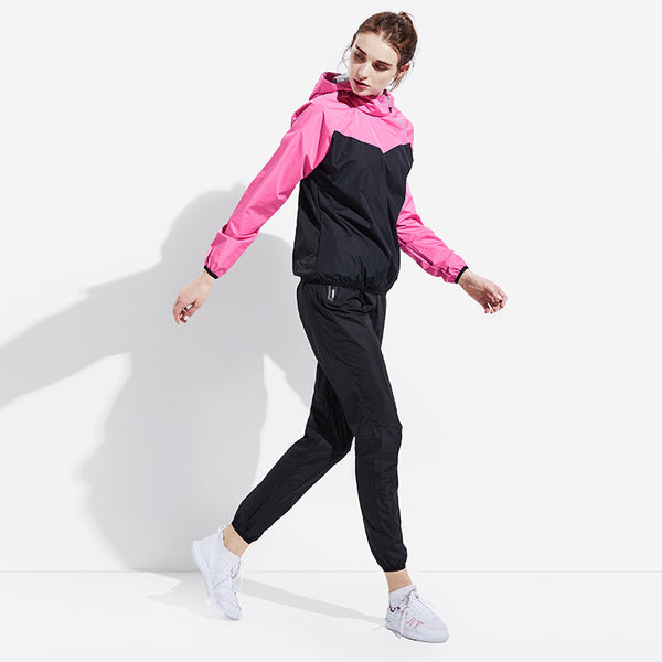 Women Gym Clothing Set Men Pullover Hoodies Tops Running Fitness Exercise Sportswear Weight Loss Sweating Sports Suit