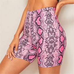 Sexy High Waist Snakeskin Short Pants