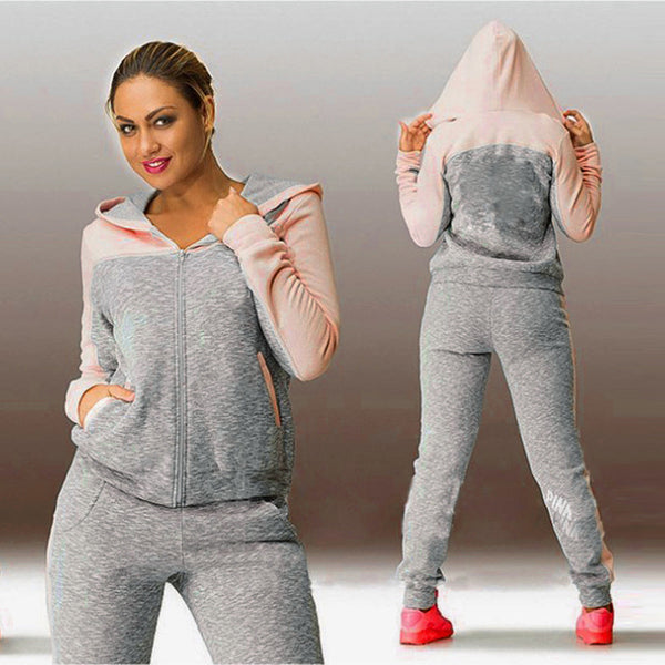 Spring Autumn Casual Women Hoodies Tops Tracksuit Sweat Suit Women's Set Sportswear Solid Long Pants
