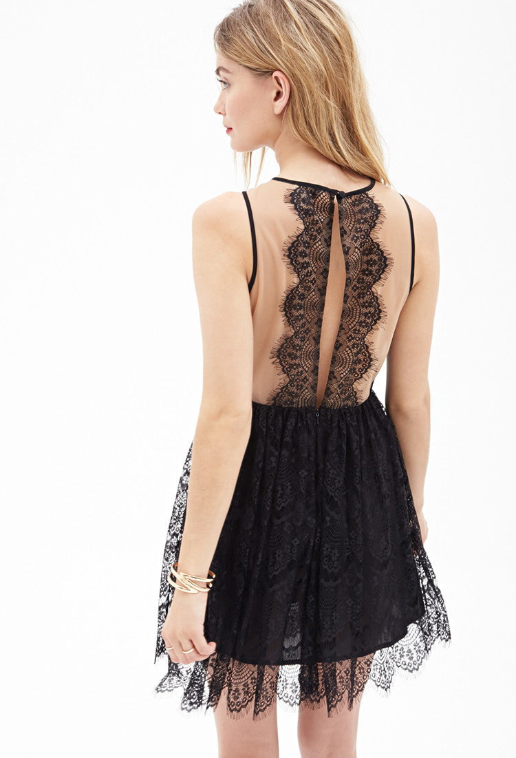 Sexy Lace Short Sleevees Short Dress