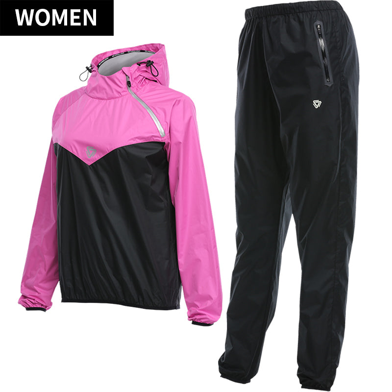 Womens Gym Clothing Set Hoodies Pullover Sportswear Running Fitness Weight Loss Sweating Sports Suit