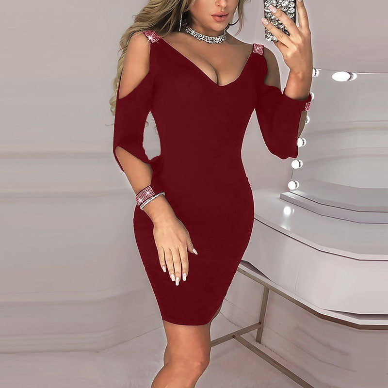 Cold Shoulder Cut Out Bodycon Dress
