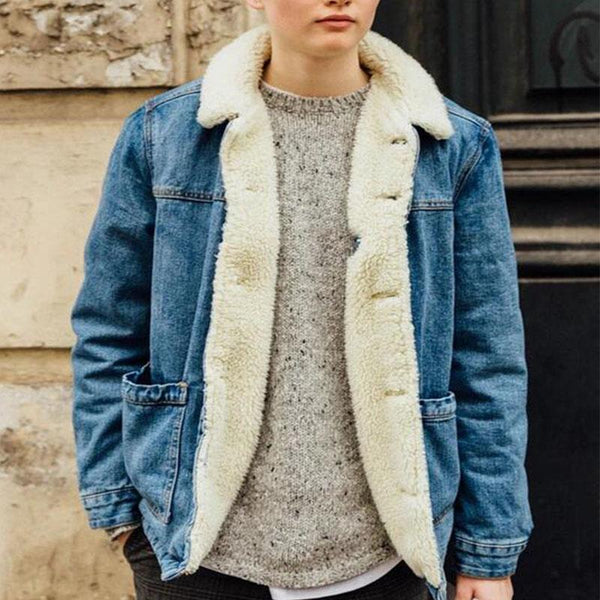 Casual Denim Sherpa Jacket